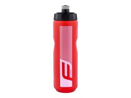 Cyklo láhev FORCE QUART 0,9 l, červeno bílá