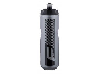 Cyklo láhev FORCE QUART 0,9 l, stříbrno černá