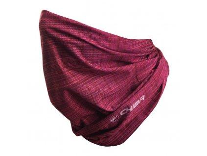 Multifunkční šátek Chiba Sommer růžová