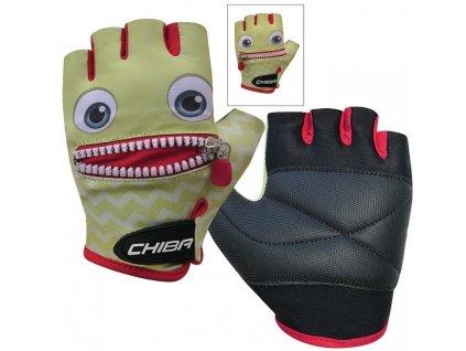 Dětské cyklistické rukavice Chiba Cool Kids Smiley limetková zelená