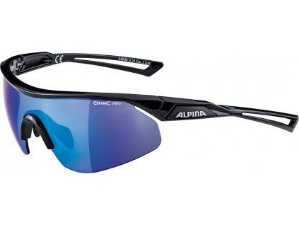 Cyklistické sportovní brýle Alpina Nylos Shield černá modrá