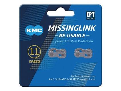 Spojka řetězu KMC MissingLink 11 EPT Silver stříbrná Re usable