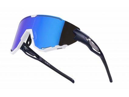 Cyklistické brýle FORCE CREED modro bílé, modrá zrc. skla