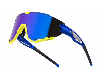 Cyklistické brýle FORCE CREED modro fluo, modrá zrc. skla
