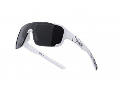 Cyklistické brýle FORCE CHIC dámské, bílo černé, černá skla