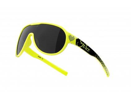 Cyklistické brýle FORCE ROSIE dámské juniorské, fluo černé, černá skla