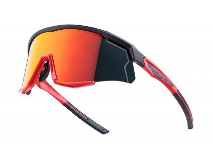 Cyklistické brýle FORCE SONIC černo červené, červená zrcadlová skla