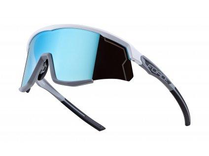Cyklistické brýle FORCE SONIC bílo šedé, modrá zrcadlová skla