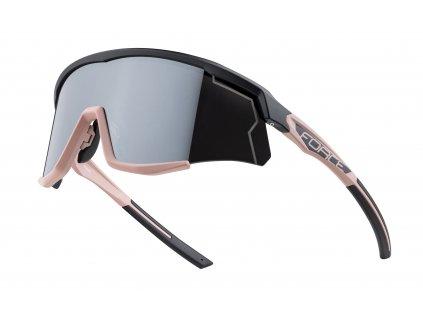 Cyklistické brýle FORCE SONIC černo bronzové, stříbrná zrcadlová skla