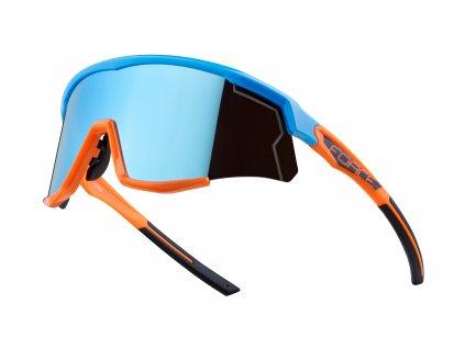 Cyklistické brýle FORCE SONIC modro oranžové, modrá zrcadlová skla