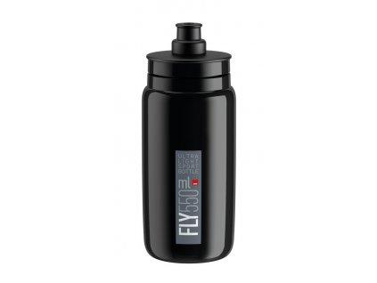 Cyklistická láhev Elite Fly černá-šedá 550 ml
