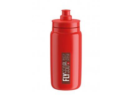 Cyklistická láhev Elite Fly červená-bordeaux 550 ml