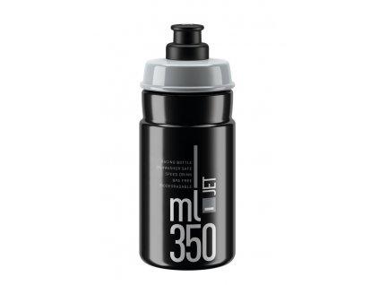 Cyklistická láhev Elite Jet černá šedá 350 ml