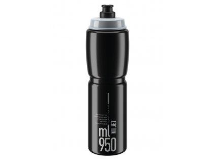 Cyklistická láhev Elite Jet černá šedá 950 ml