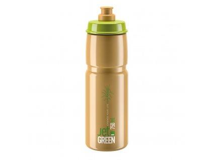 Cyklistická láhev Elite Jet Green zelená hnědá 750 ml