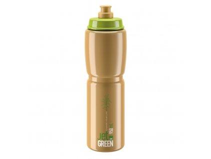 Cyklistická láhev Elite Jet Green zelená hnědá 950 ml