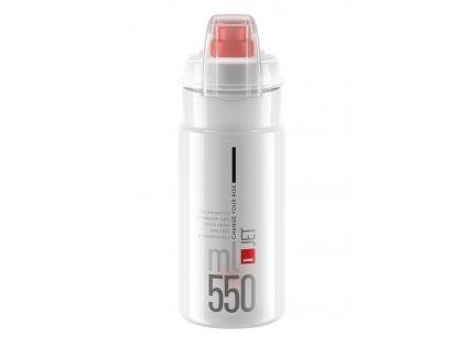 Cyklistická láhev Elite Jet Plus čirá červená 550 ml