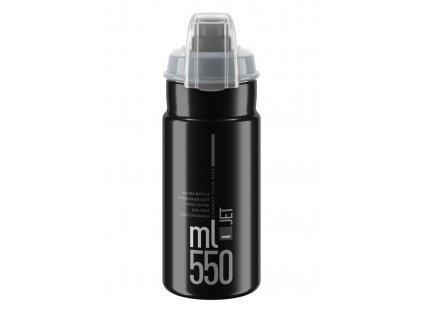 Cyklistická láhev Elite Jet Plus černá šedá 550 ml