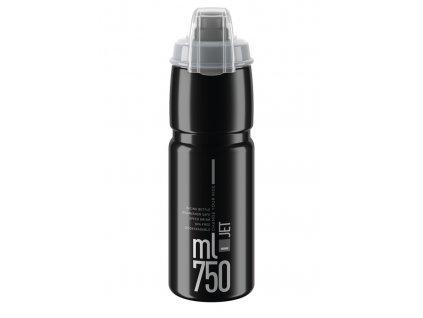 Cyklistická láhev Elite Jet Plus černá šedá 750 ml