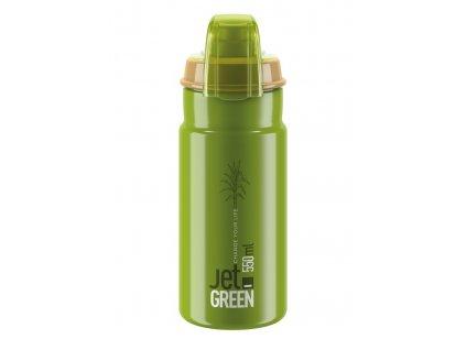 Cyklistická láhev Elite Jet Green Plus zelená olivová 550 ml