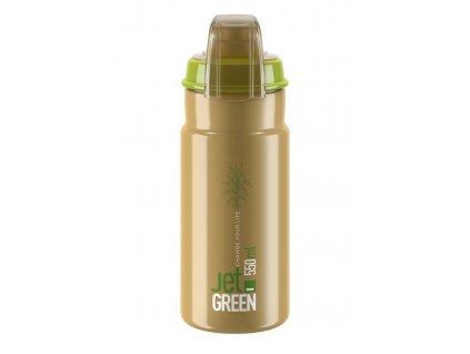 Cyklistická láhev Elite Jet Green Plus zelená hnědá 550 ml