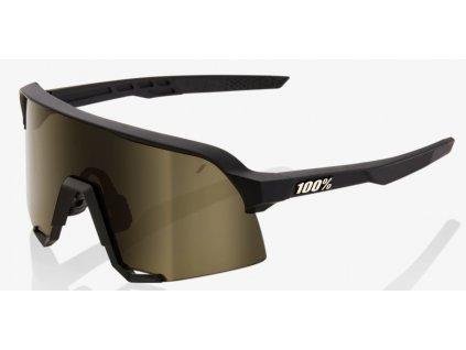 Cyklistické brýle 100% S3 Soft Tact Black Soft Gold Mirror Lens