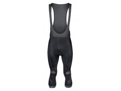 Cyklistické kalhoty 3/4 FORCE STORY se šráky a vložkou, černé
