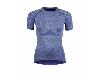 Dámské triko funkční FORCE SOFT LADY krátký rukáv, modré