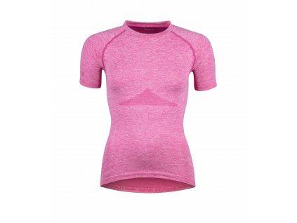 Dámské triko funkční FORCE SOFT LADY krátký rukáv, růžové