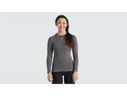 Dámské funkční triko Specialized Women's Seamless Long Sleeve Baselayer šedé