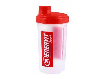 Láhev šejkr ENERVIT 0,7 l, bílý červený vršek