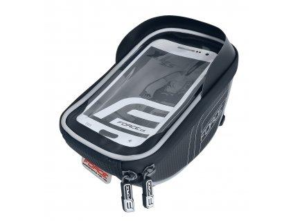 Cyklo brašna na mobil na řidítka FORCE SMART XL černo šedá