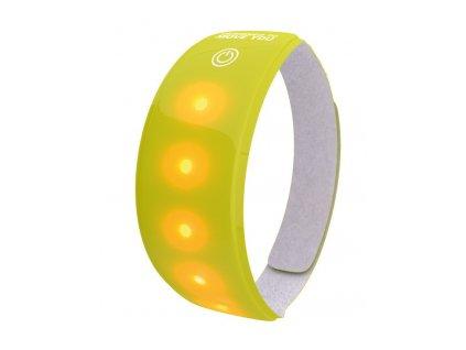 Reflexní páska Wowow 5 LED žlutá 3M, se suchým zipem