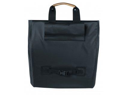 Boční nákupní brašna na zadní nosič na kolo Basil Urban Dry nepromokavá matt black 20 l