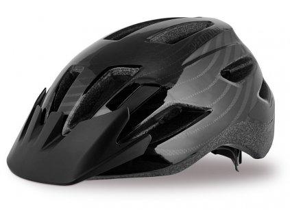 Dětská cyklistická přilba Specialized SHUFFLE LED BLK YTH černá
