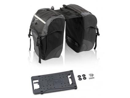 Brašna na zadní nosič XLC carry more černá antracitová pro XLC systém nosičů