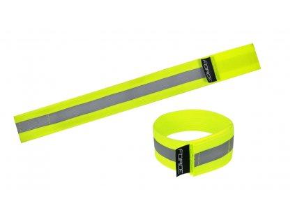Pásek reflexní FORCE LUN suchý zip fluo