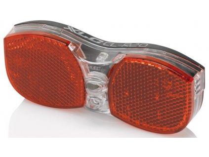 Zadní bateriové světlo s odrazkou na nosič XLC LED