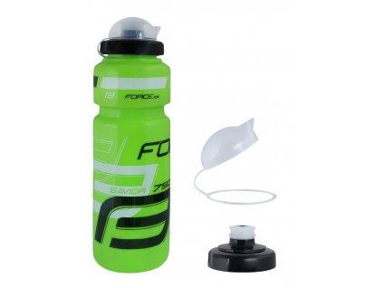 Cyklistická láhev FORCE SAVIOR ULTRA 0,75 l zeleno bílo černá