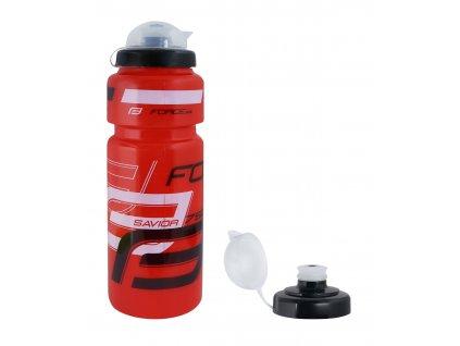 Cyklistická láhev FORCE SAVIOR ULTRA 0,75 l červeno černo bílá