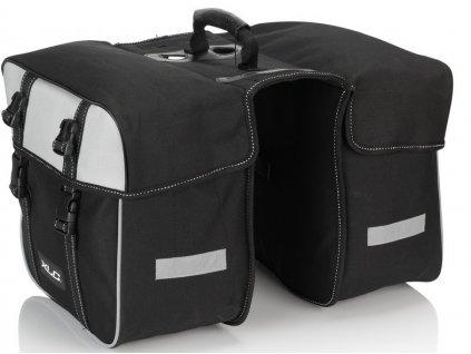 Dvojitá brašna na zadní nosič XLC Traveller BA S67 černá antracitová