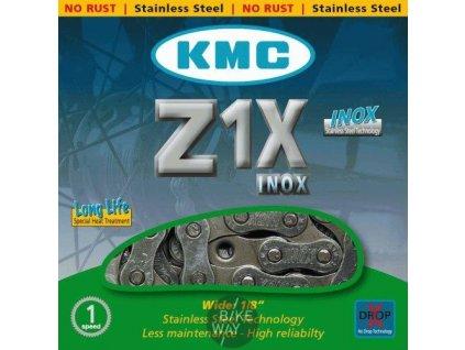 Řetěz na kolo KMC Z1X Inox for Tour, City, Fixed Gear 1-rychlostní