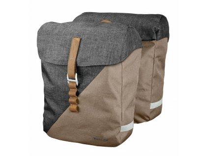 Brašny na zadní nosič Racktime Heda písková/šedá včetně Snapit adaptéru