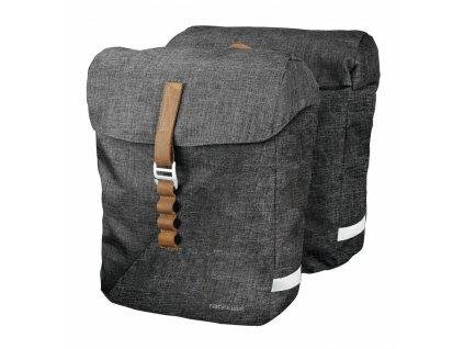 Brašny na zadní nosič Racktime Heda šedá včetně Snapit adaptéru