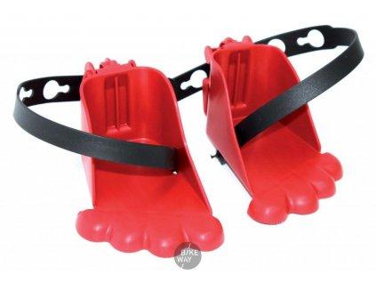 Náhradní botičky pro přední sedačky BELLELLI, červené