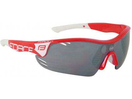 Cyklistické brýle FORCE RACE PRO červeno bílé