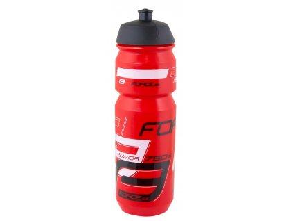 Cyklistická láhev FORCE SAVIOR červeno černá 750 ml