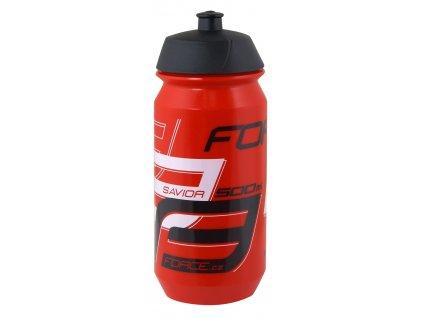 Cyklistická láhev FORCE SAVIOR červeno černá 500 ml