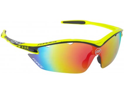 Cyklistické sportovní brýle FORCE RON fluo