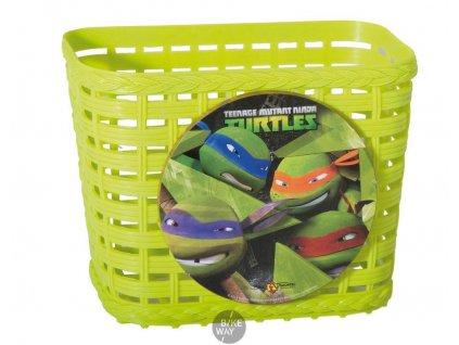 Dětský plastový košík na řídítka Bike Fashion Želvy Ninja